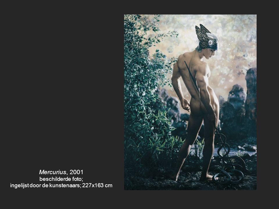 ingelijst door de kunstenaars; 227x163 cm
