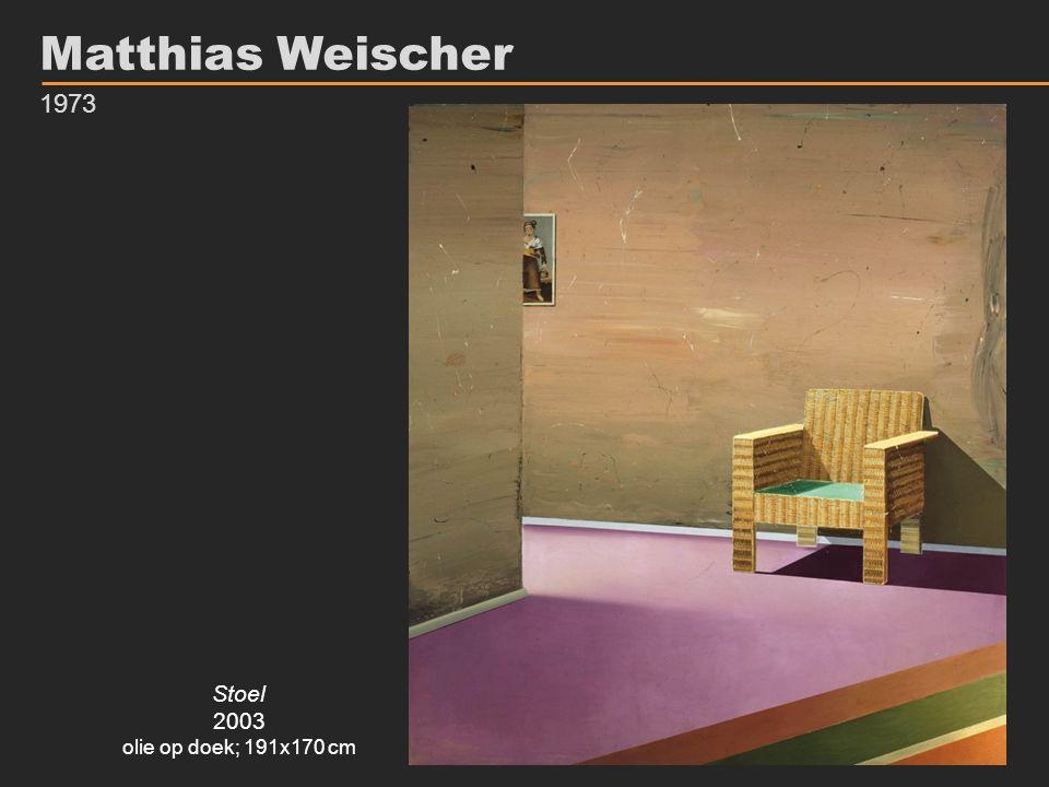 Matthias Weischer 1973 Stoel 2003 olie op doek; 191x170 cm