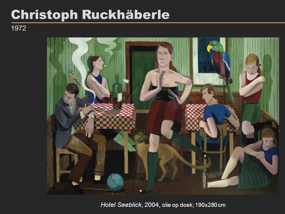 Hotel Seeblick, 2004, olie op doek; 190x280 cm