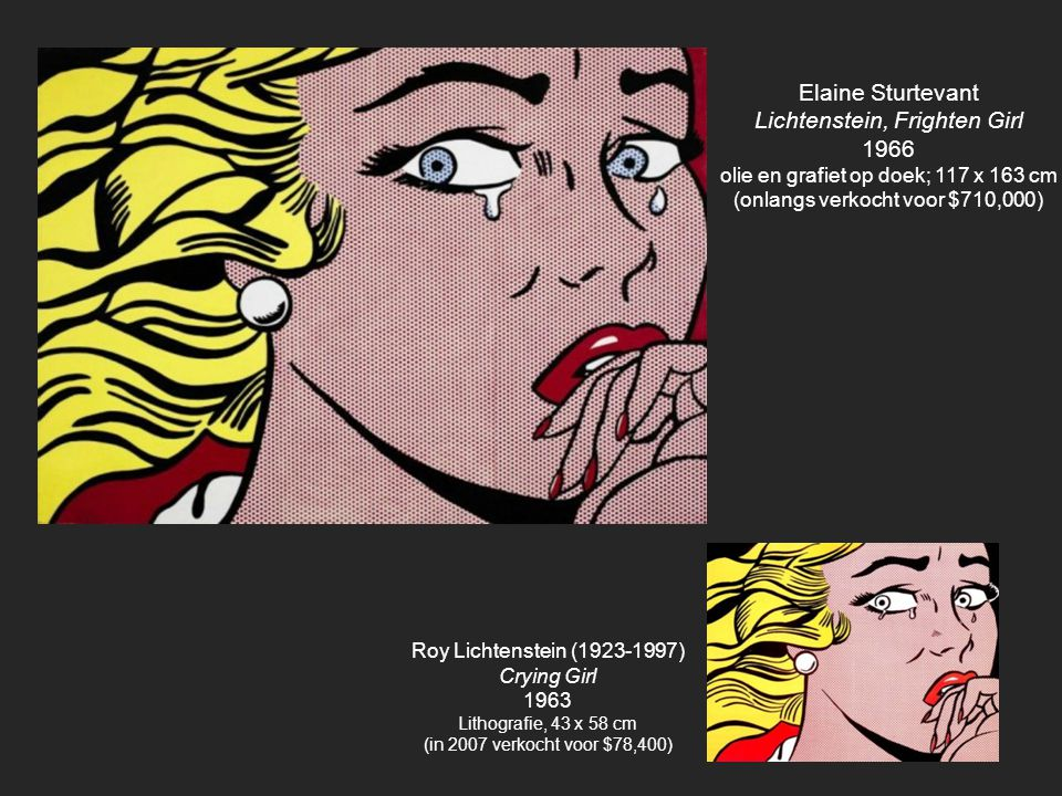 Lichtenstein, Frighten Girl 1966