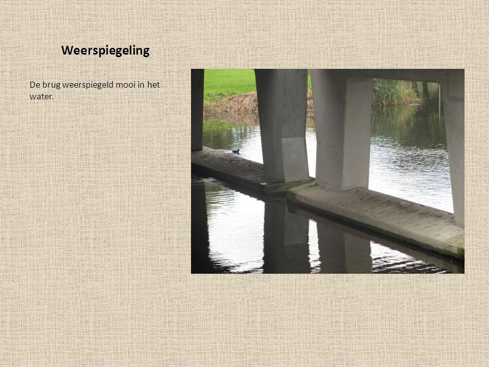 Weerspiegeling De brug weerspiegeld mooi in het water.