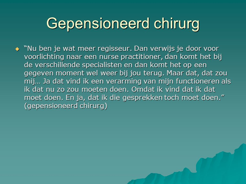 Gepensioneerd chirurg