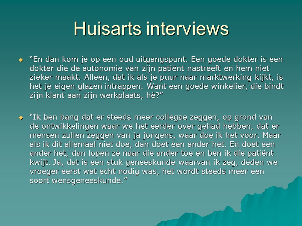 Huisarts interviews