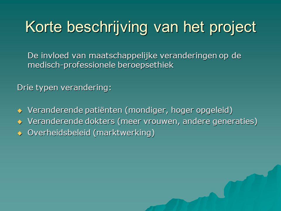 Korte beschrijving van het project
