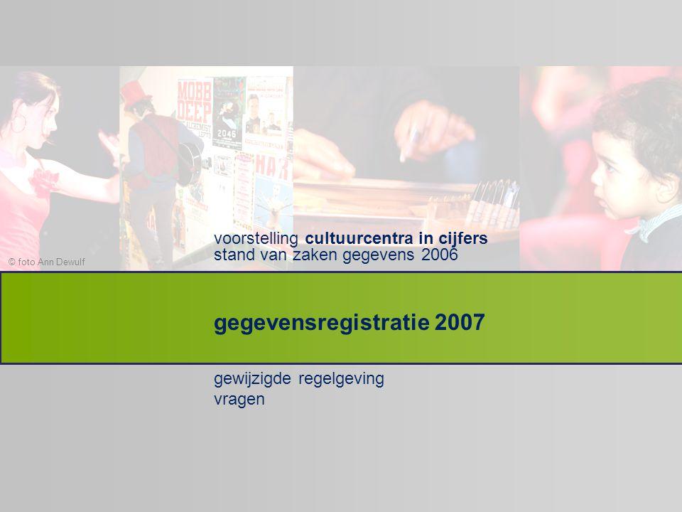 voorstelling cultuurcentra in cijfers stand van zaken gegevens 2006