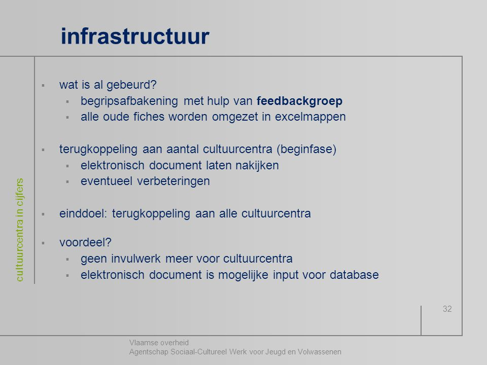 infrastructuur wat is al gebeurd