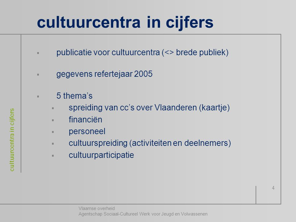 cultuurcentra in cijfers