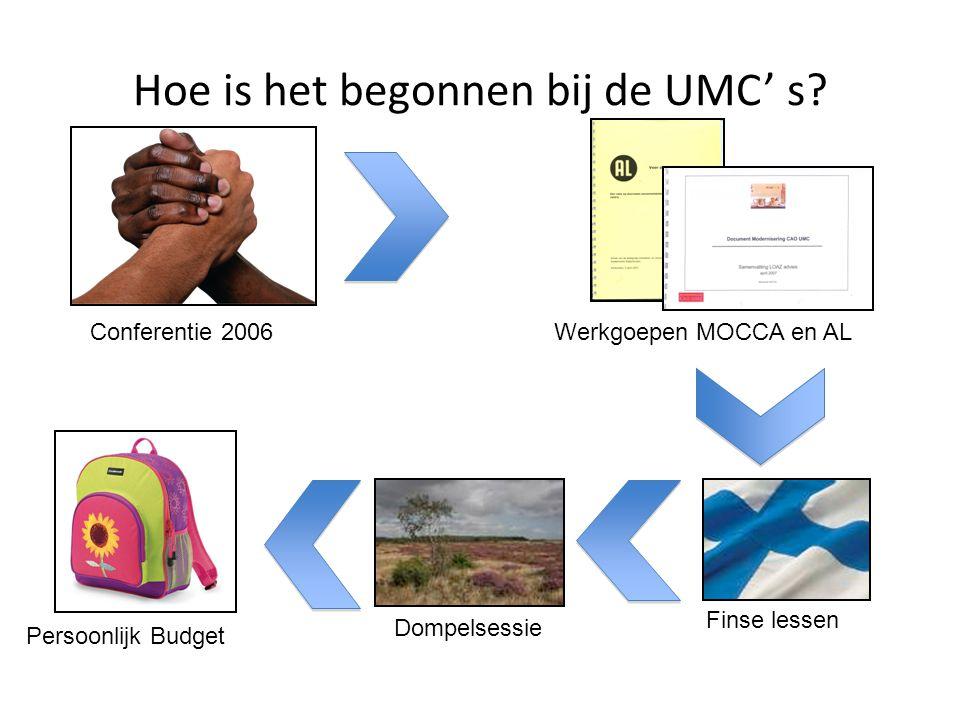 Hoe is het begonnen bij de UMC' s