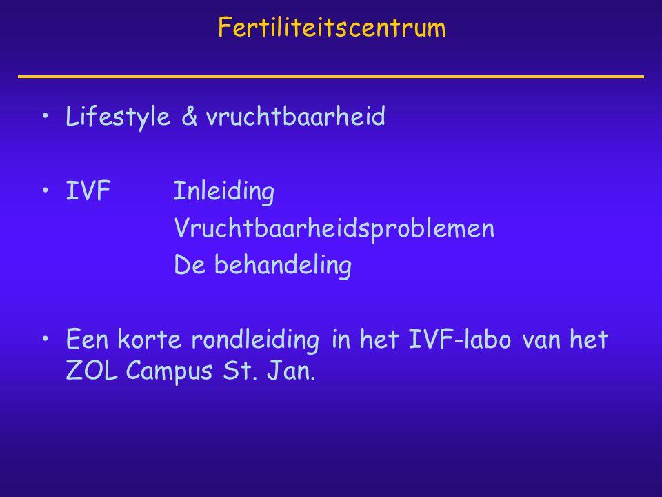 Fertiliteitscentrum Lifestyle & vruchtbaarheid. IVF Inleiding. Vruchtbaarheidsproblemen. De behandeling.