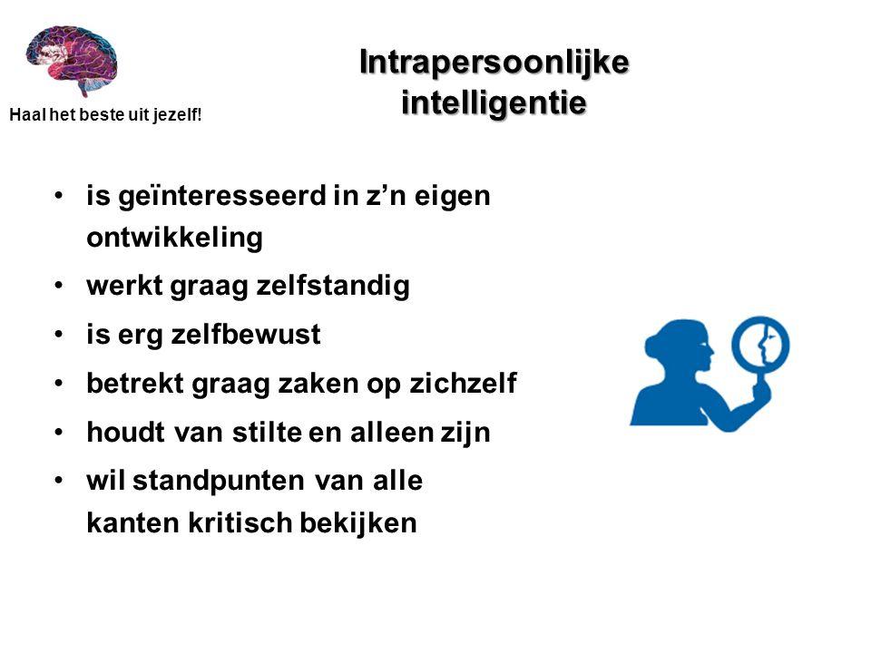 Intrapersoonlijke intelligentie