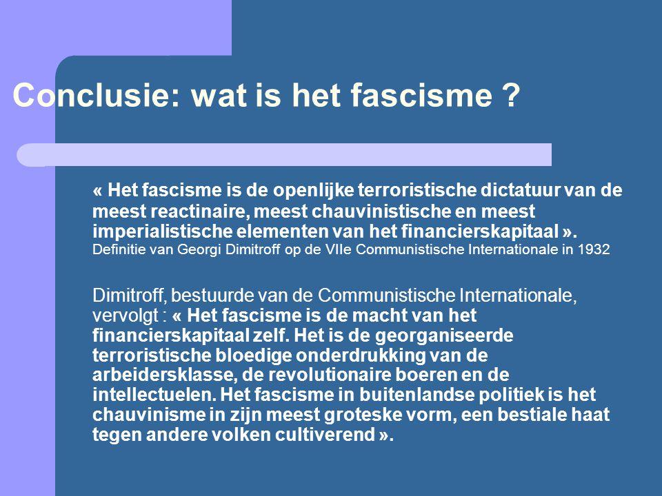 Conclusie: wat is het fascisme