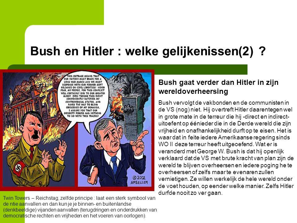 Bush en Hitler : welke gelijkenissen(2)