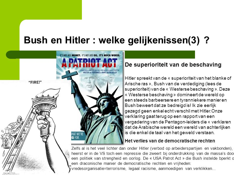 Bush en Hitler : welke gelijkenissen(3)