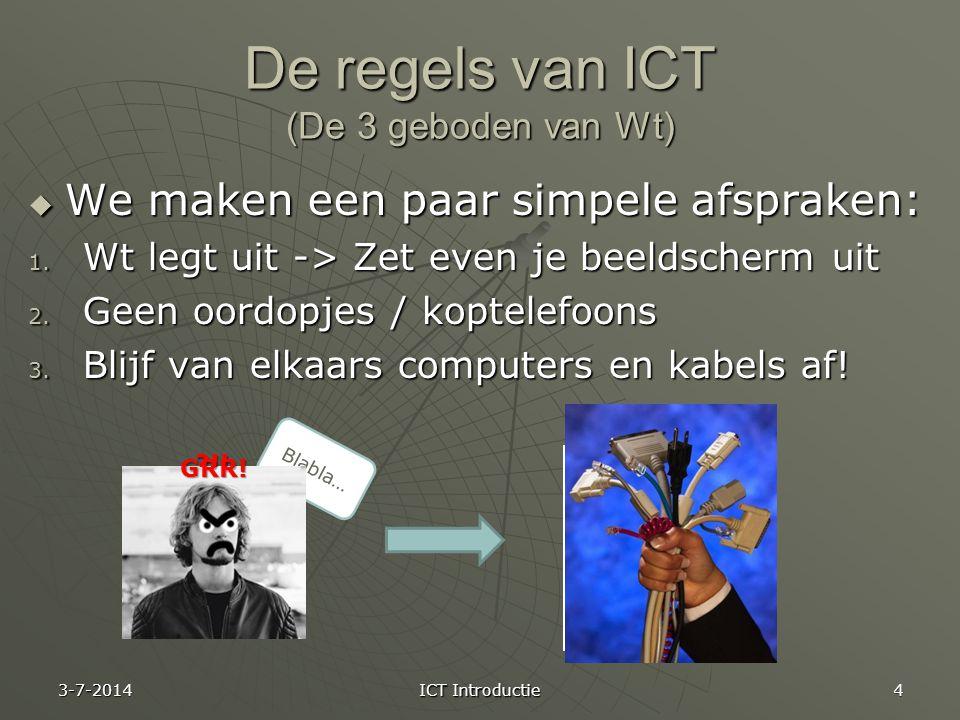 De regels van ICT (De 3 geboden van Wt)