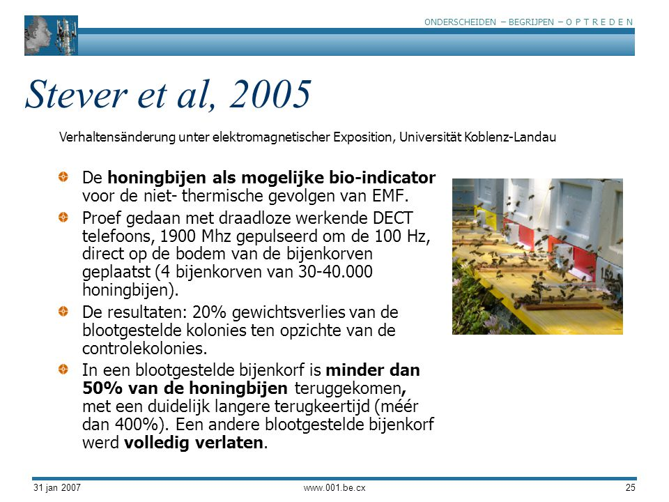 Stever et al, 2005 Verhaltensänderung unter elektromagnetischer Exposition, Universität Koblenz-Landau.