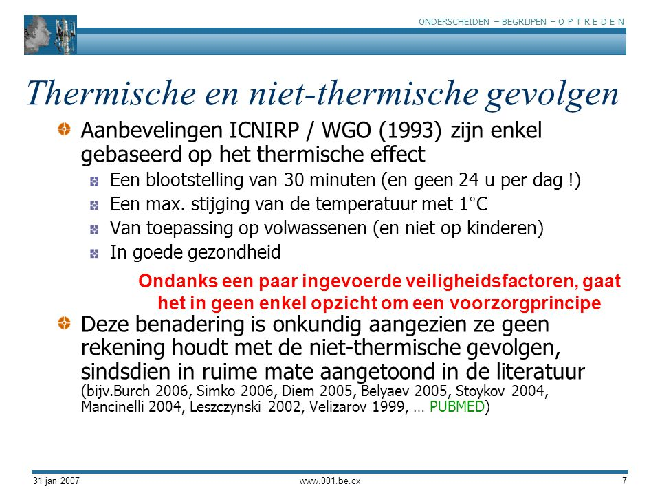 Thermische en niet-thermische gevolgen