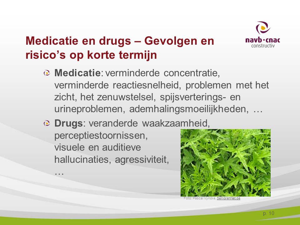 Medicatie en drugs – Gevolgen en risico's op korte termijn