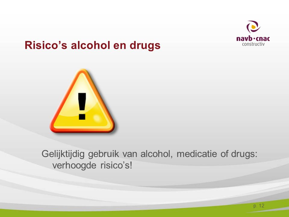 Risico's alcohol en drugs