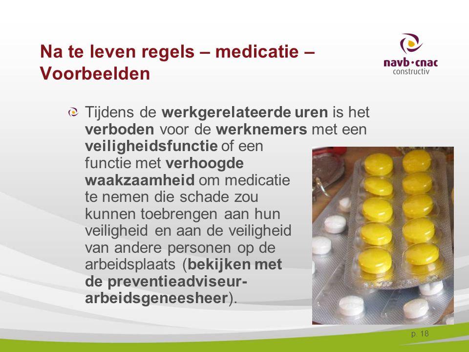 Na te leven regels – medicatie – Voorbeelden