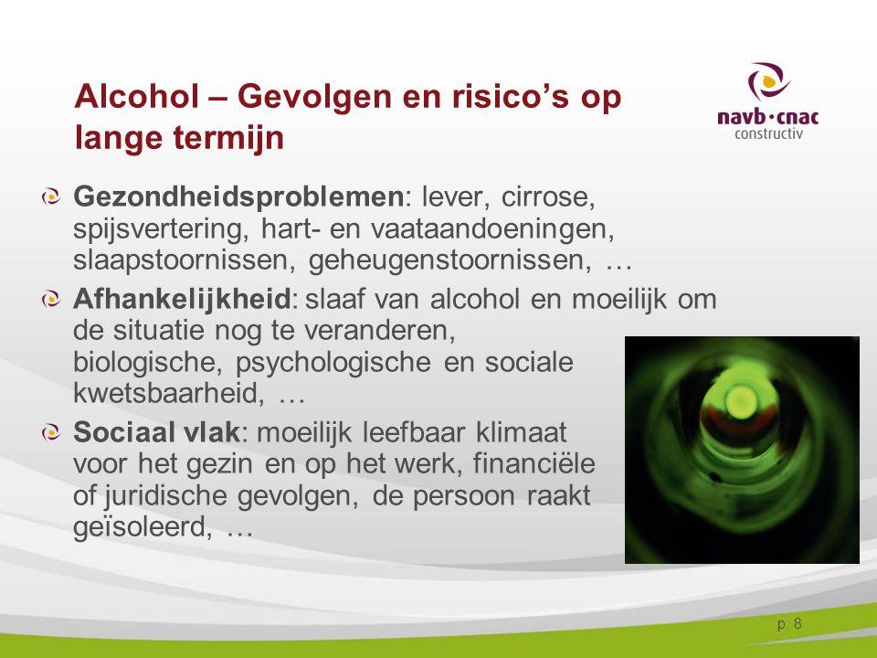 Alcohol – Gevolgen en risico's op lange termijn