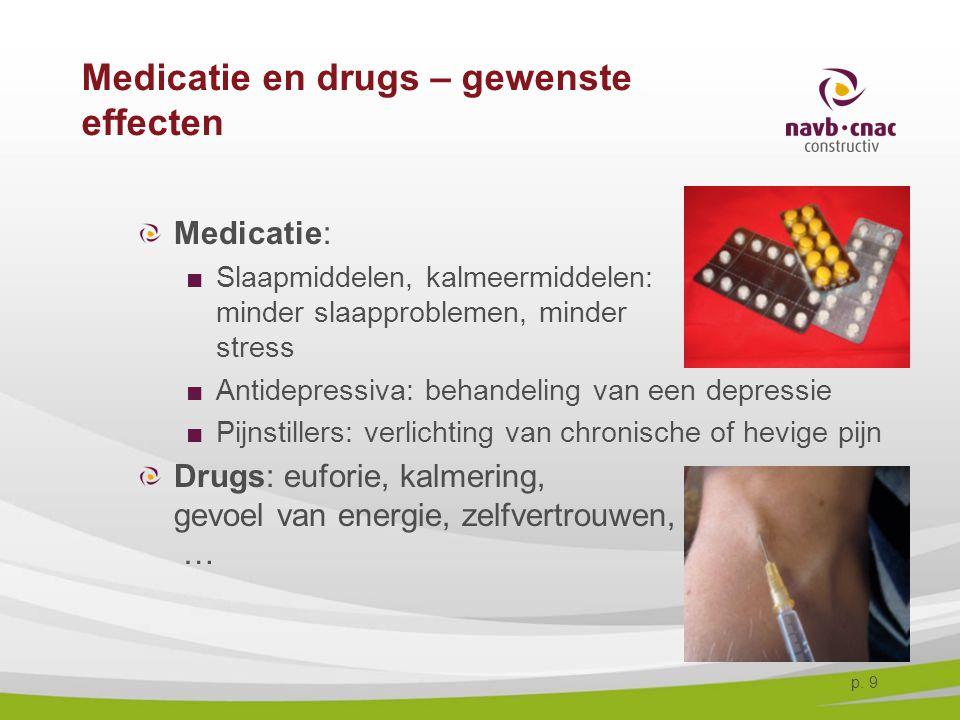 Medicatie en drugs – gewenste effecten