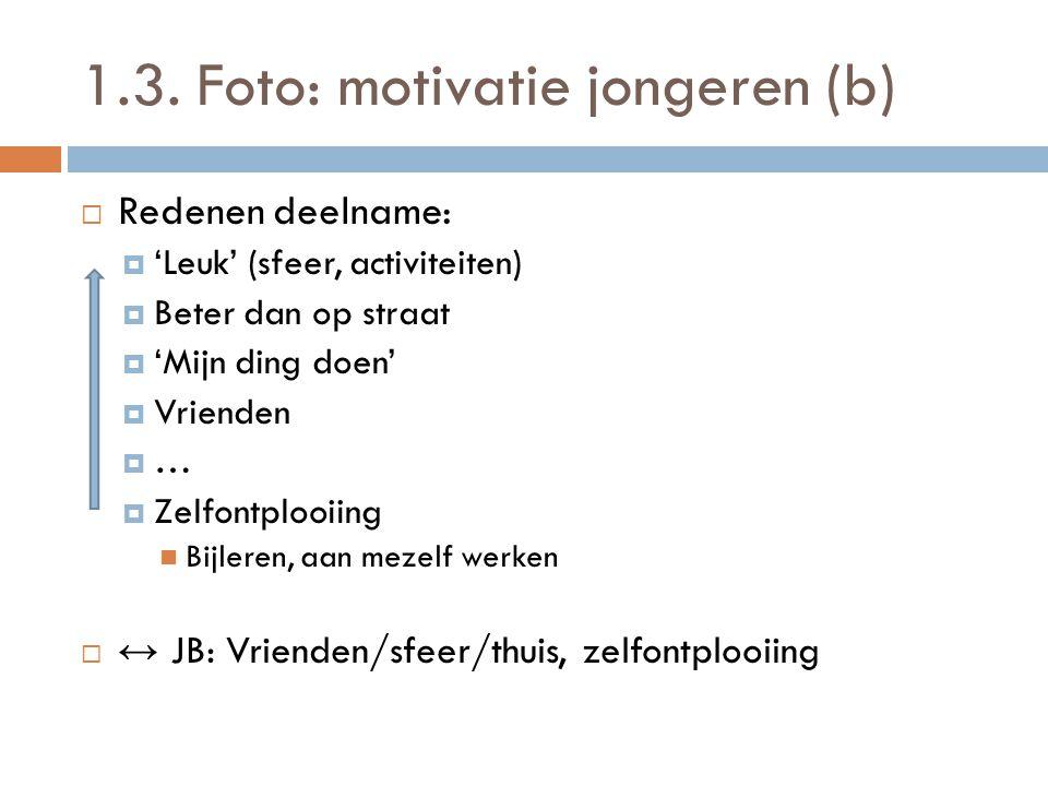 1.3. Foto: motivatie jongeren (b)