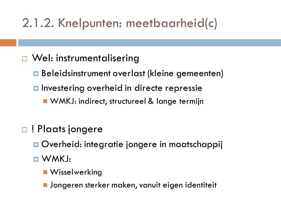 2.1.2. Knelpunten: meetbaarheid(c)