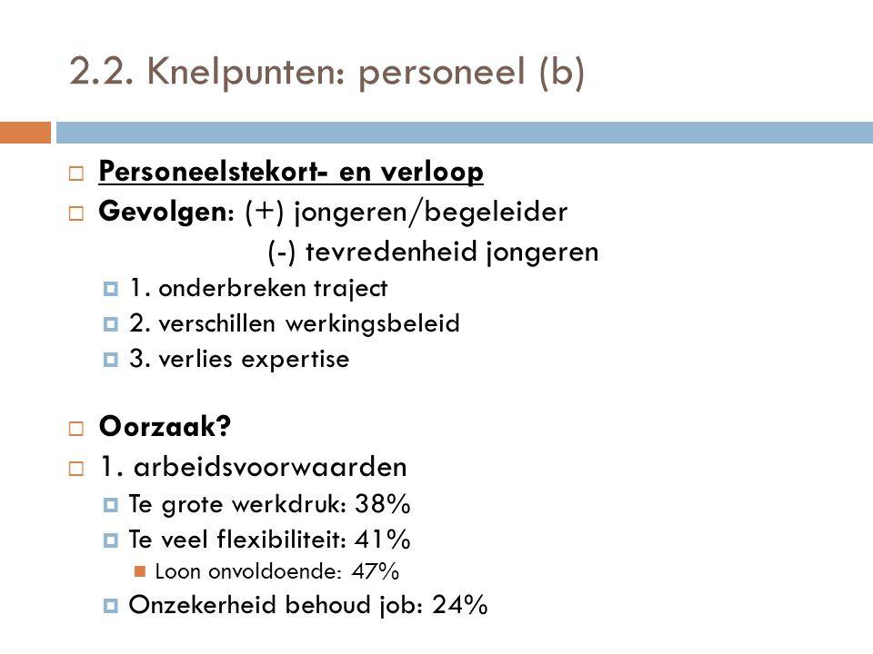 2.2. Knelpunten: personeel (b)