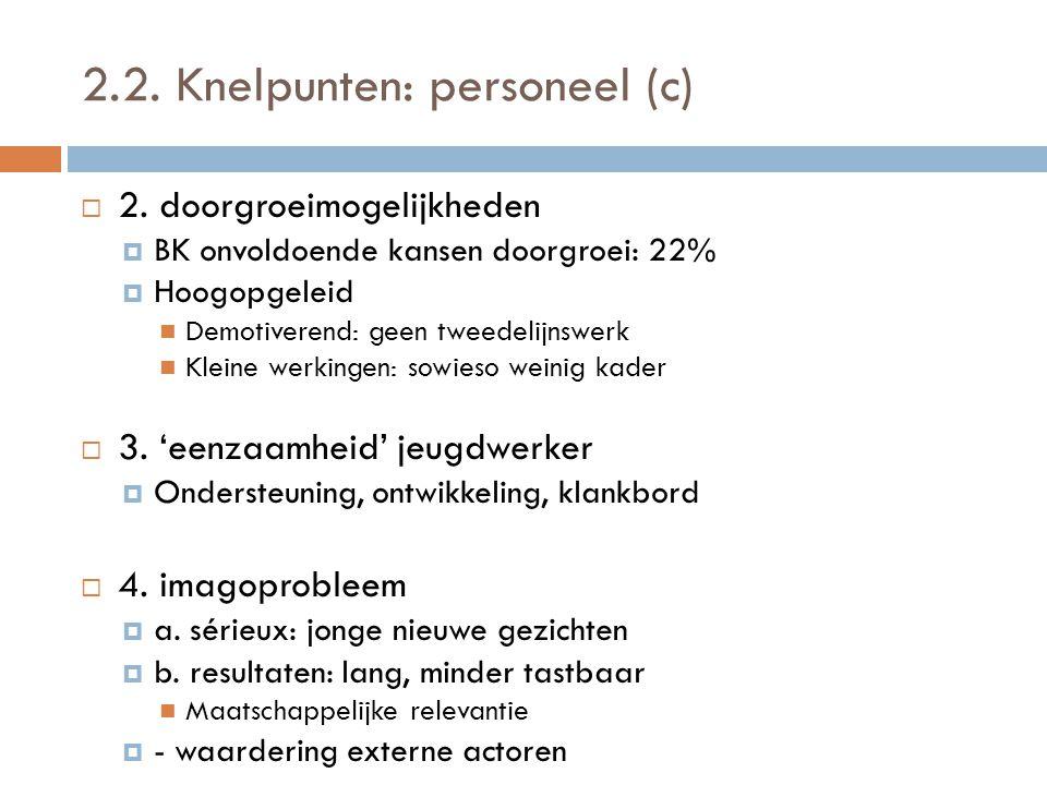 2.2. Knelpunten: personeel (c)