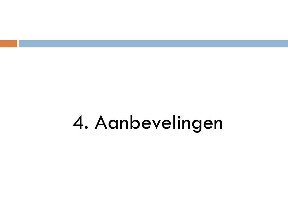 4. Aanbevelingen
