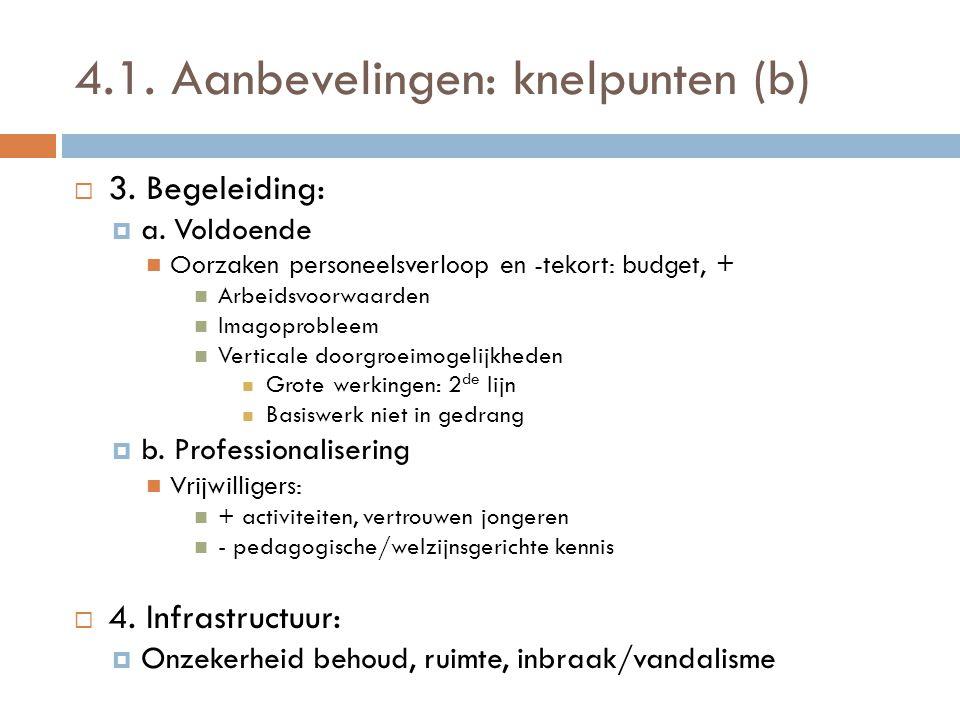 4.1. Aanbevelingen: knelpunten (b)