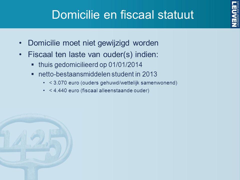 Domicilie en fiscaal statuut