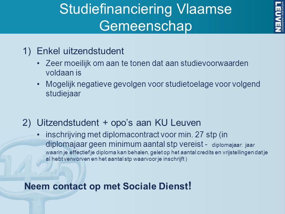Studiefinanciering Vlaamse Gemeenschap