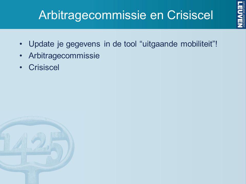 Arbitragecommissie en Crisiscel
