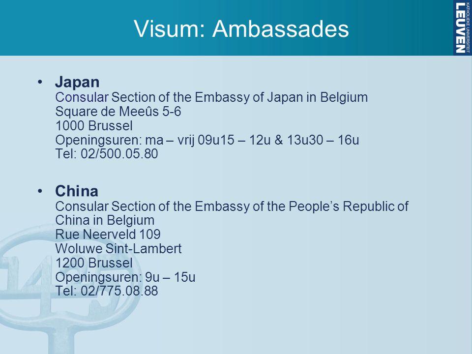 Visum: Ambassades