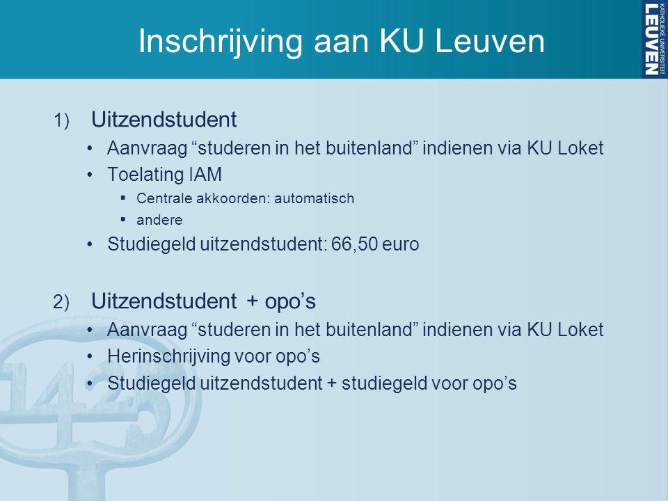 Inschrijving aan KU Leuven