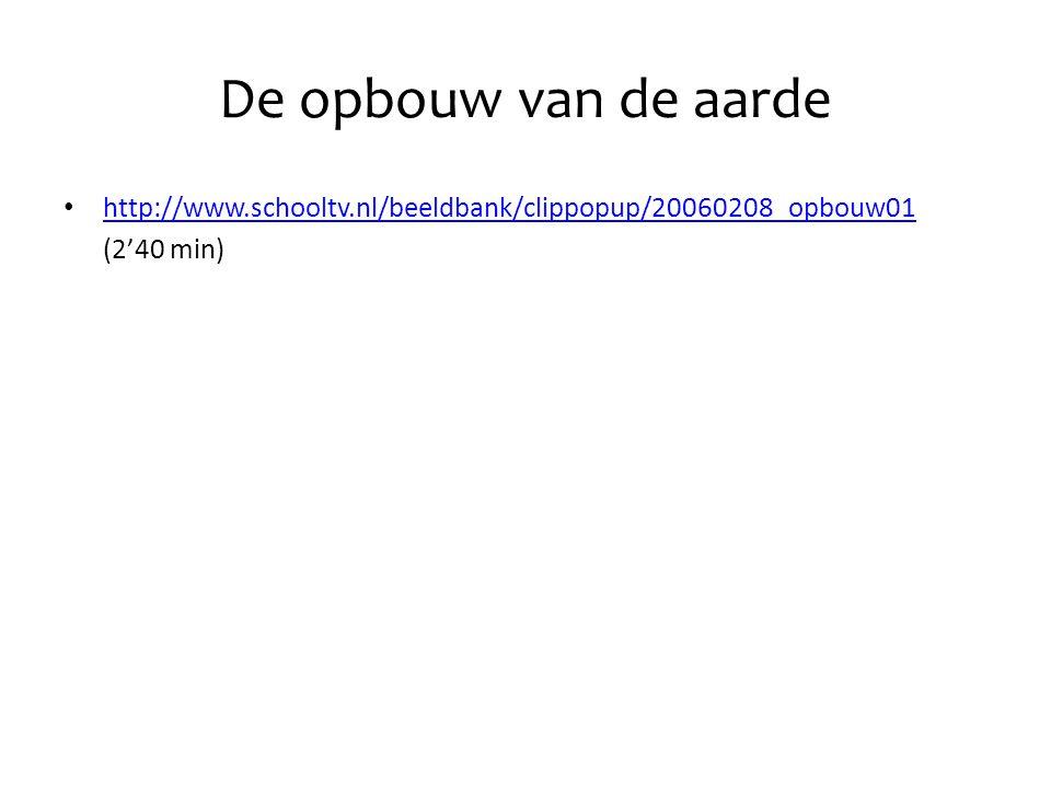 De opbouw van de aarde http://www.schooltv.nl/beeldbank/clippopup/20060208_opbouw01. (2'40 min)