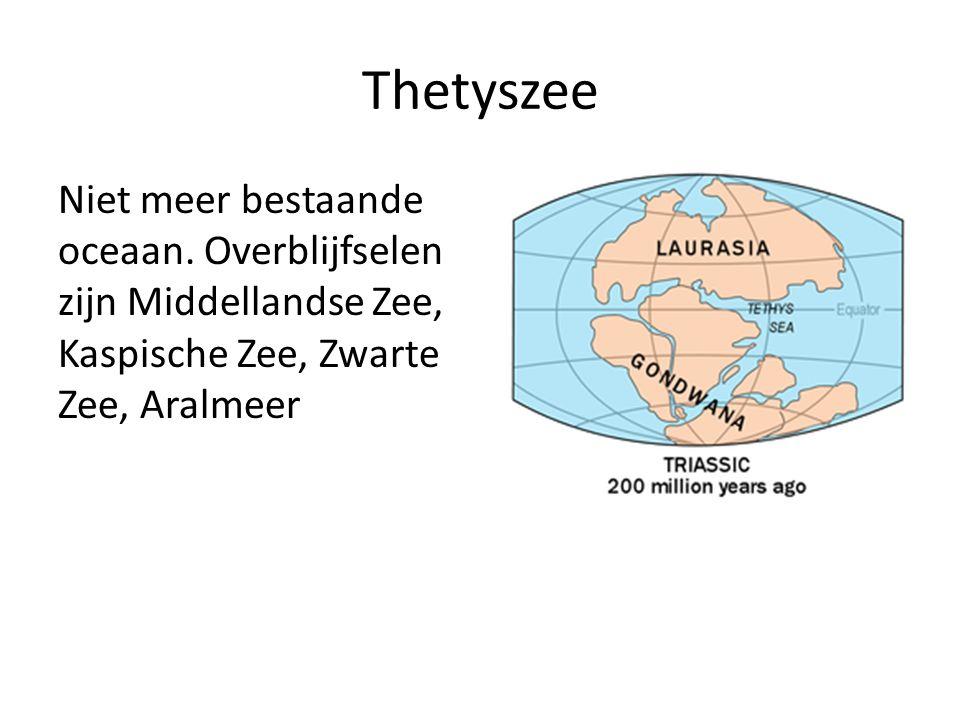 Thetyszee Niet meer bestaande oceaan.
