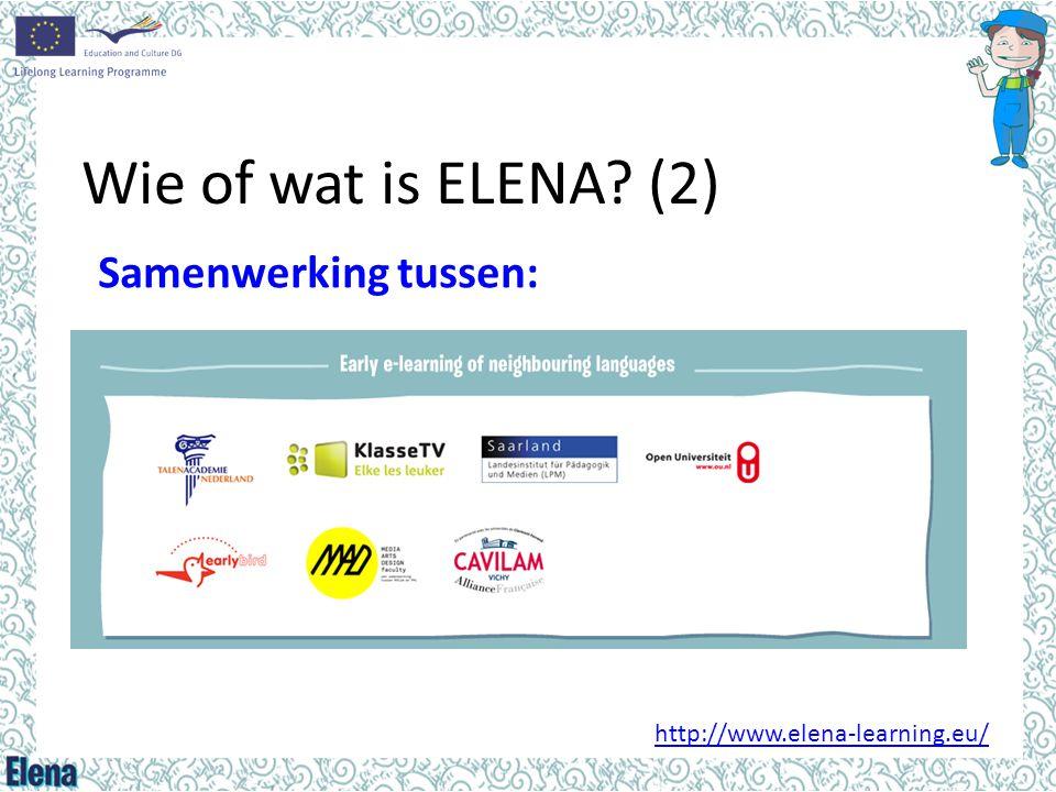 Wie of wat is ELENA (2) Samenwerking tussen:
