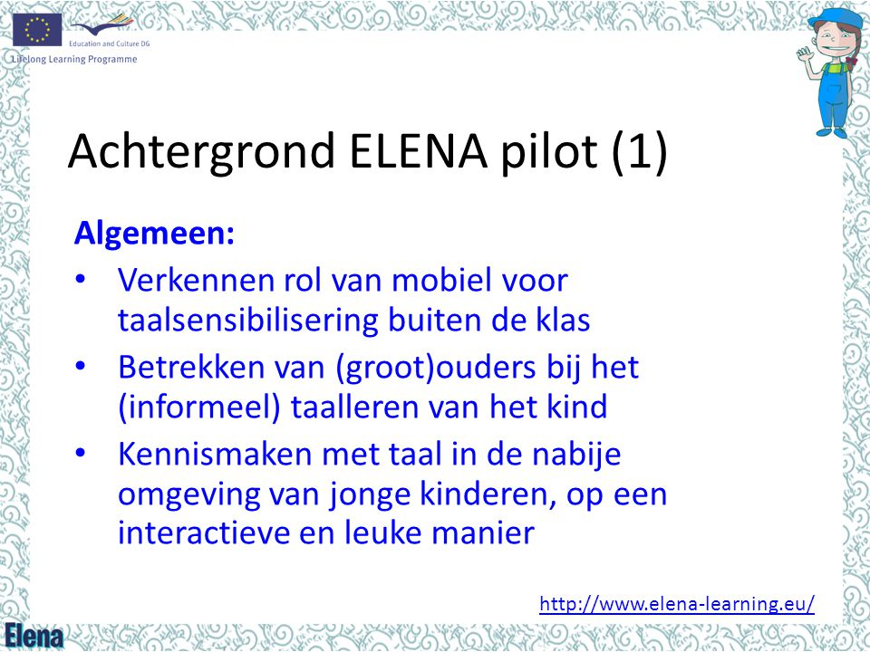 Achtergrond ELENA pilot (1)