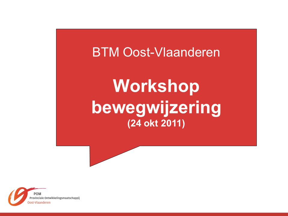 Workshop bewegwijzering