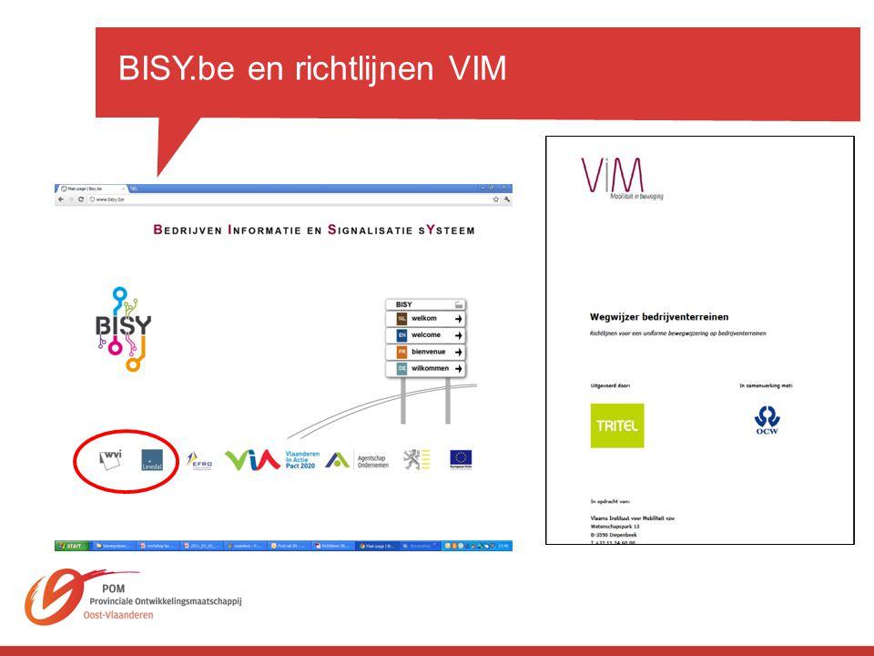 BISY.be en richtlijnen VIM