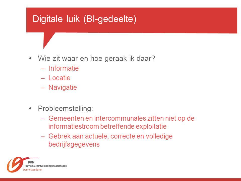 Digitale luik (BI-gedeelte)