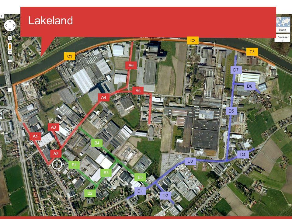 Lakeland i 29 november 2010 managementteam C2 C3 C1 A6 D7 D6 A5 A4 D5