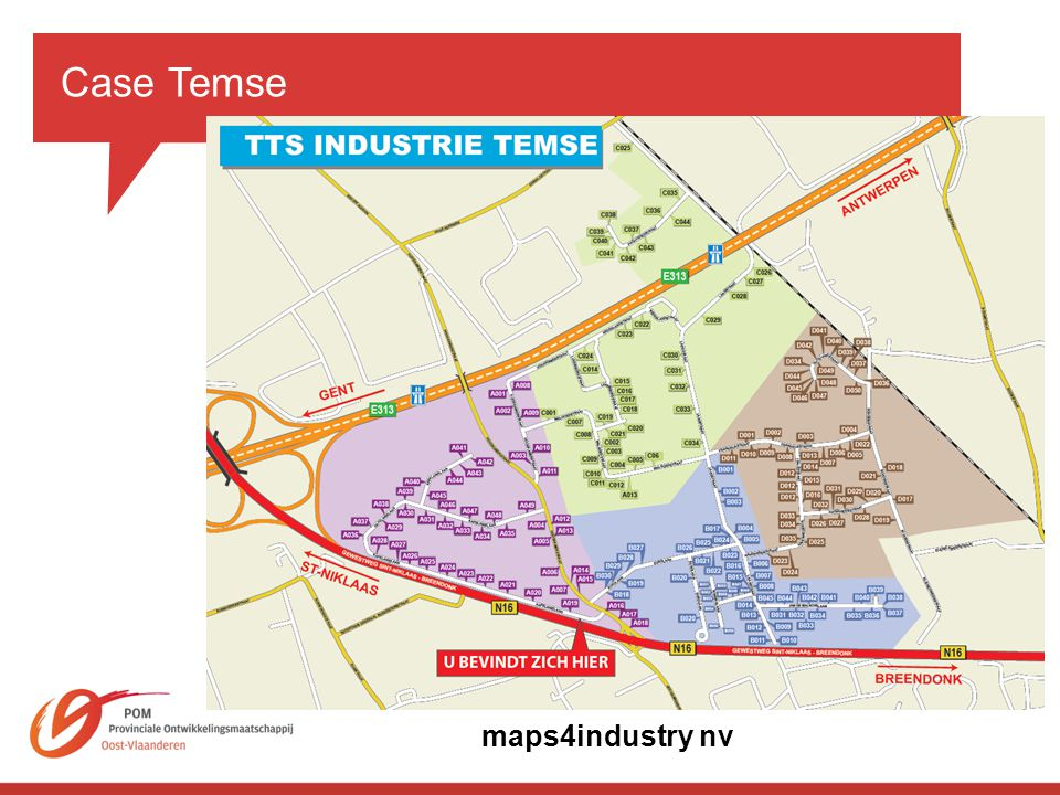 Case Temse maps4industry nv.