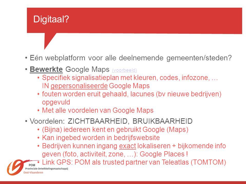 Digitaal Eén webplatform voor alle deelnemende gemeenten/steden