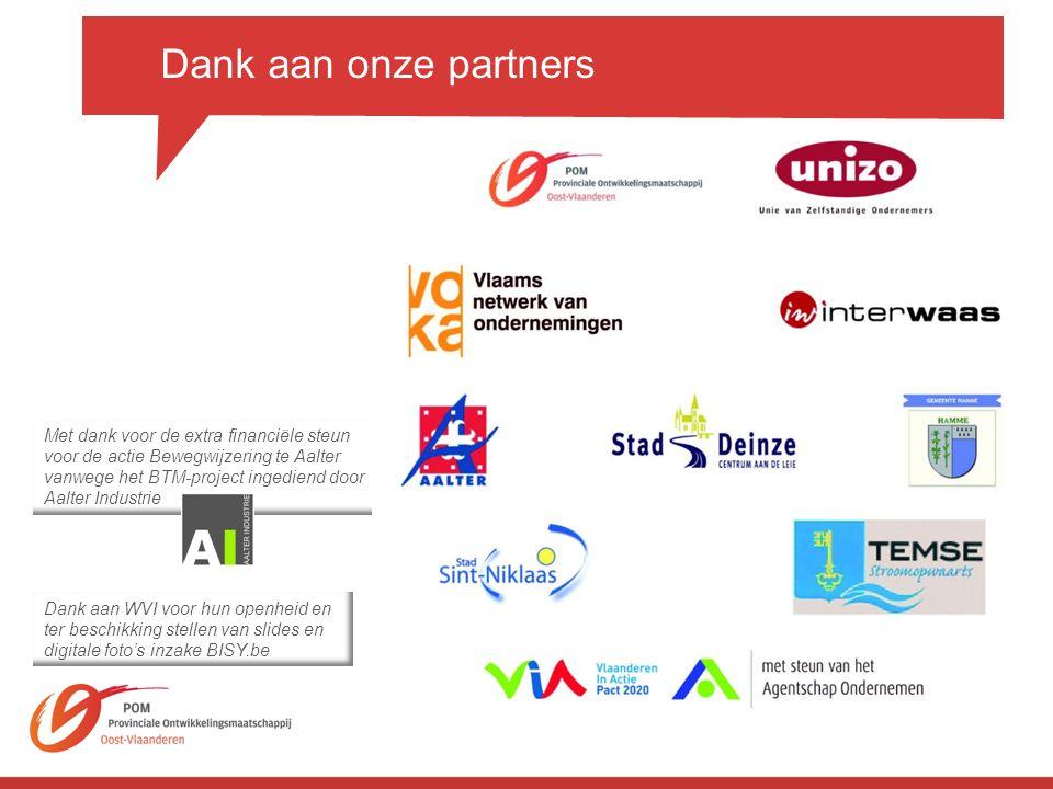 Dank aan onze partners Met dank voor de extra financiële steun
