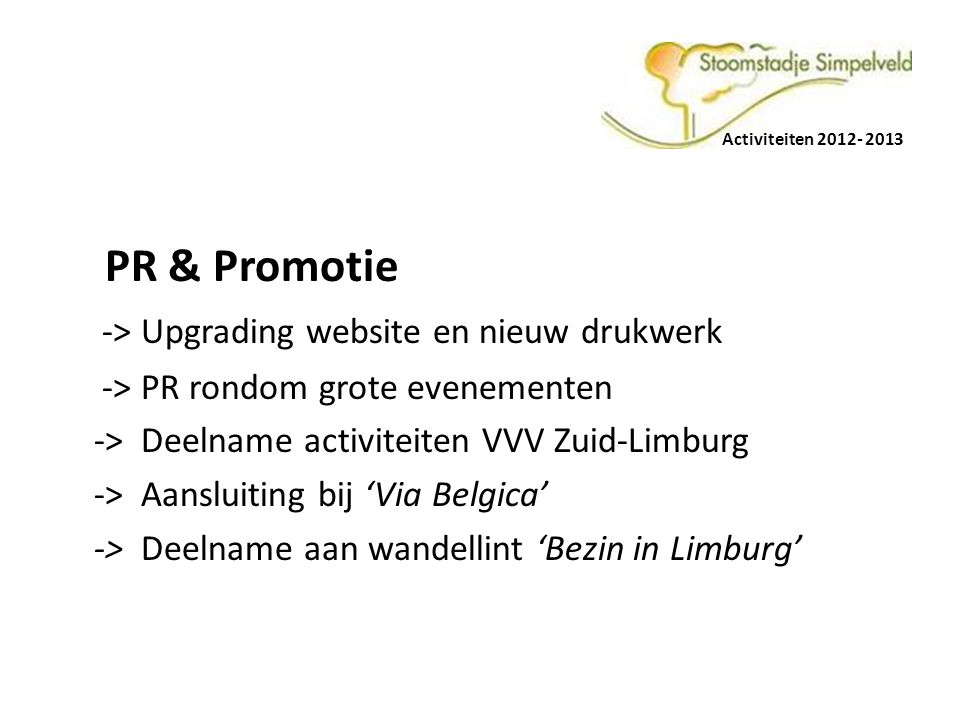 -> Upgrading website en nieuw drukwerk