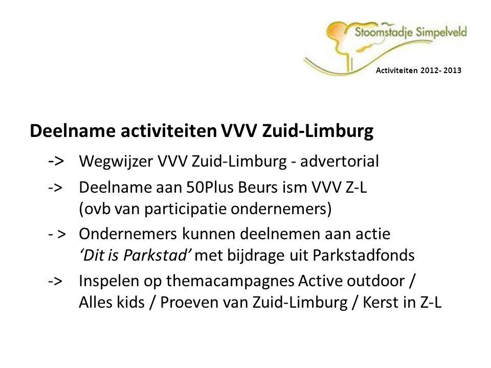 Deelname activiteiten VVV Zuid-Limburg