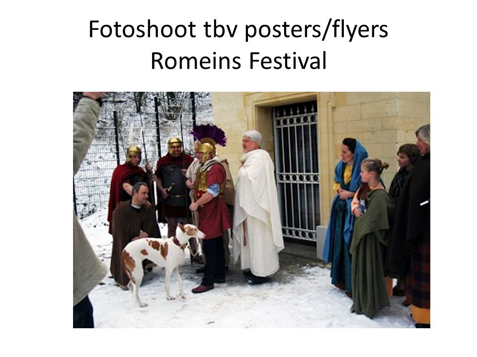 Fotoshoot tbv posters/flyers Romeins Festival